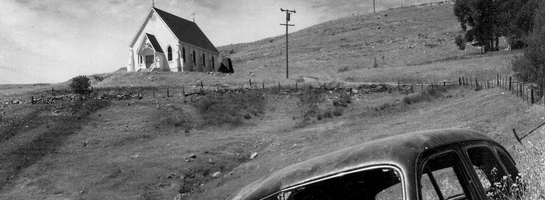 Ansel Adams | Kirche und verlassenes Auto